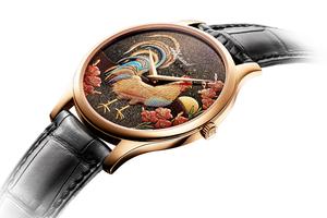 农历鸡年元素腕表 莳绘浮雕珐琅的竞技