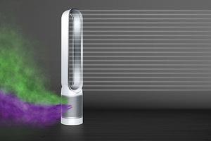 强劲气流循环喷射 戴森推出最新款空气净化风扇
