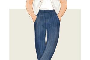 每日穿搭丨倜傥的条纹长裤