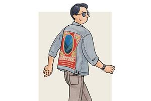 每日穿搭|背影更迷人的刺绣牛仔夹克