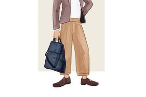 每日穿搭|可拎可背的手提包&不挑腿形的阔腿裤