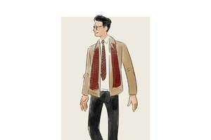 每日穿搭|领带时髦度不够?用围巾来凑