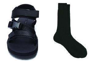 凉鞋与袜子的时尚碰撞