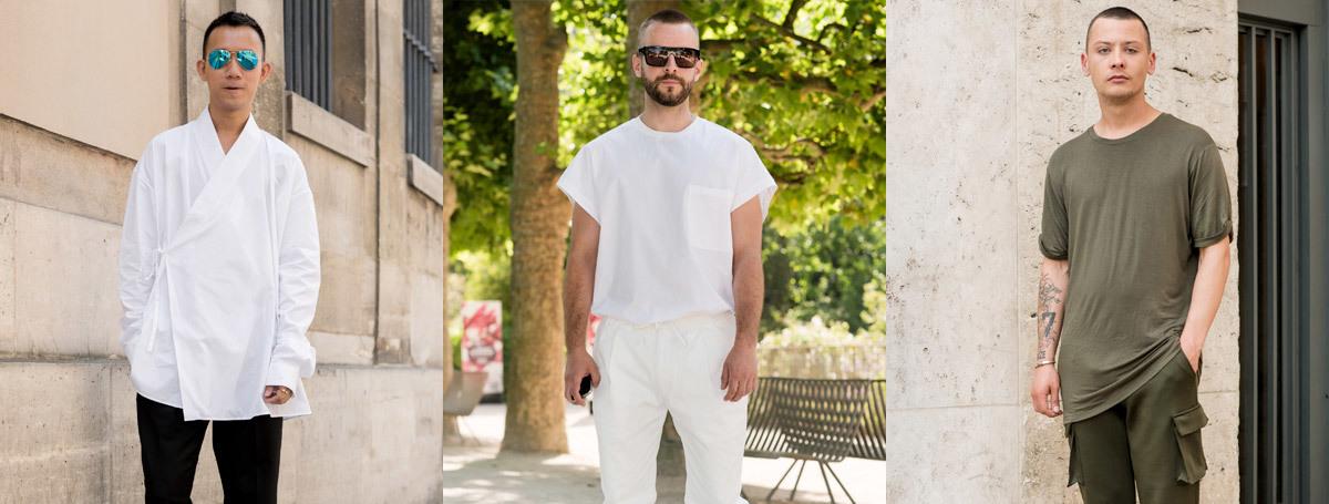 巴黎男装周街拍  夏日廓形示范