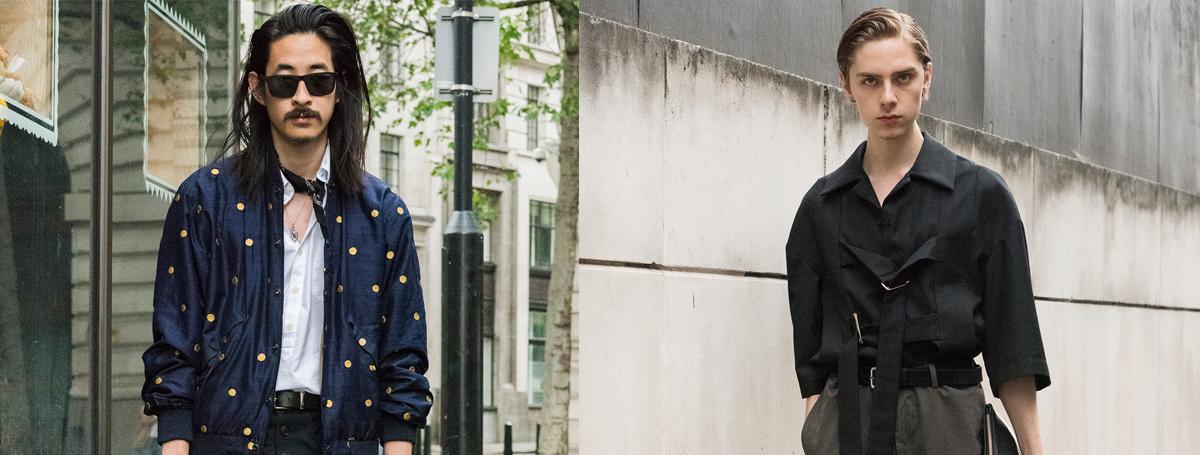 2017春夏伦敦男装周街拍 穿衣标签