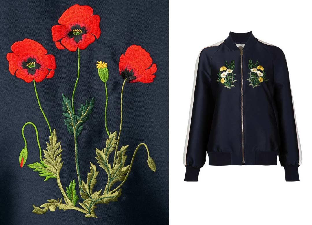 花朵图案刺绣夹克 stella mccartney ¥17,000