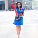 施予婓身着Sandro 2017春夏系列