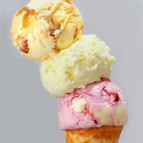 多种果味冰激凌