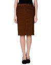 棕色 MAURO GRIFONI 及膝半裙