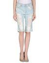 蓝色 ONLY 百慕大牛仔短裤
