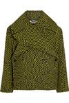 印花羊毛混纺外套