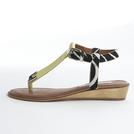Diane von Furstenberg黄×斑马纹凉鞋