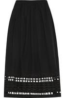 镂空刺绣纯棉巴里纱半身裙