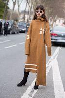 温暖又时髦的针织裙,怎么穿才能显高显瘦?