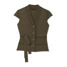 Giada迦达2014春夏系列赭色无袖针织衫