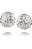 Ava Button 钻石镀玫瑰金耳钉
