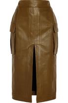 皮革铅笔半身裙