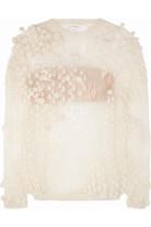 绒球针织马海毛混纺毛衣