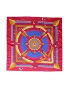 玫红色 HERMES 方巾