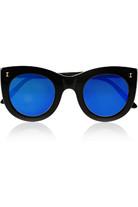 Boca 猫眼形板材反光太阳镜