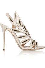 Flora 绒面革拼接皮革凉鞋