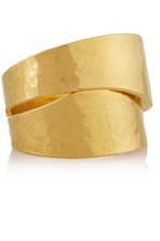 锤制镀金戒指