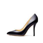 StellaLuna 黑色经典皮革尖头高跟鞋
