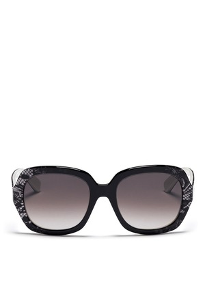 Degradé lace oversize sunglasses