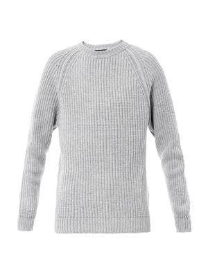 Jumbo-stitch cotton sweater