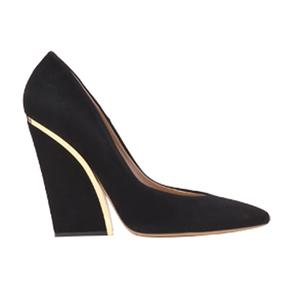 Chloé蔻依2013年秋季系列黑色绒面高跟鞋