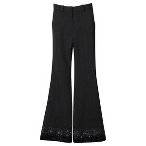 Louis Vuitton路易威登2013秋冬黑色喇叭款长裤