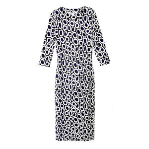 Diane von Furstenberg黑×白几何裹身裙