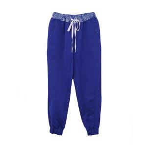 Paul Smith2013春夏蓝色棉麻混纺缩口休闲长裤