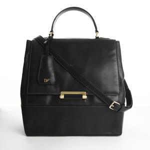 Diane von Furstenberg黑色皮革手提包