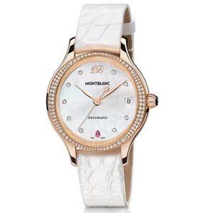 Montblanc万宝龙摩納哥格蕾丝王妃系列玫瑰金自动腕表