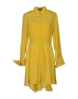 黄色 ALEXANDER MCQUEEN 短款连衣裙