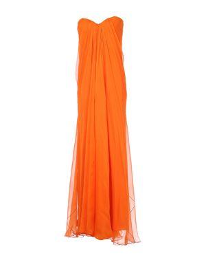 橙色 ALEXANDER MCQUEEN 长款连衣裙