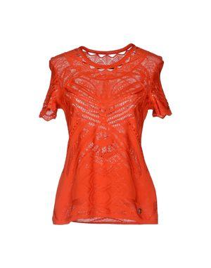 红色 ROBERTO CAVALLI 短袖针织衫
