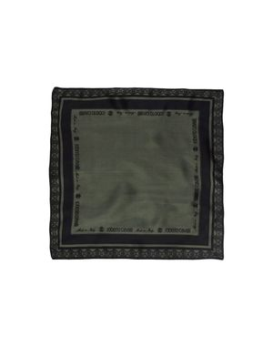 军绿色 ROBERTO CAVALLI 方巾