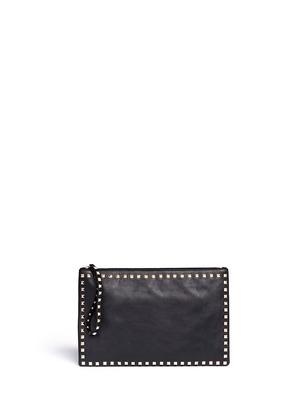 Rockstud small leather clutch