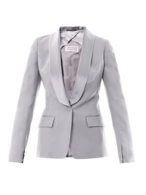 Satin-lapel wool jacket