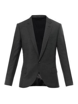 Contrast-panel crepe blazer