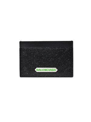 Stamped leather card holder