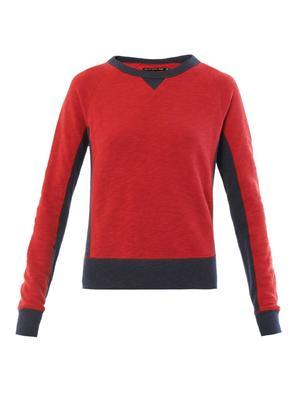 Raglan bi-colour sweater