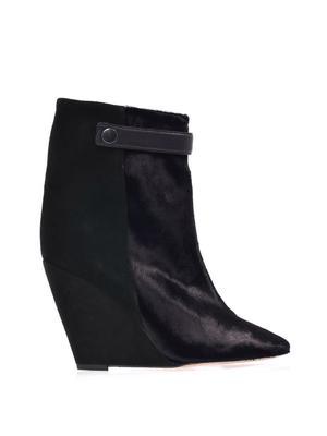 Sade bi-colour wedge boots