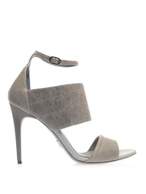 Stamped-leather sandals