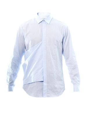 Stripe-print flag shirt