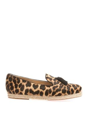 Spanish Cheetah calf-hair espadrilles