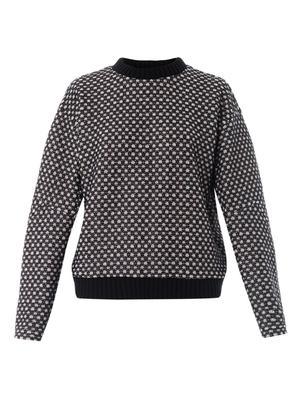 Bonded lace sweatshirt