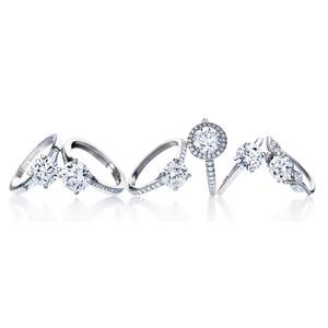 DE BEERS戴比尔斯璀璨闪耀2014婚礼季圆环钻石戒指